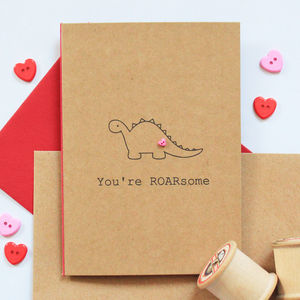 'You're Roarsome' Valentine's Day Card - valentine's cards