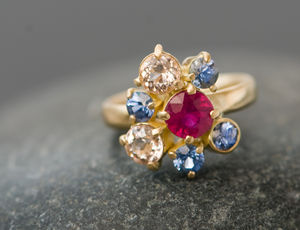 Gold Engagement Ring - women's jewellery