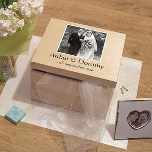 Personalised Anniversary Keepsake Box - boxes, trunks & crates