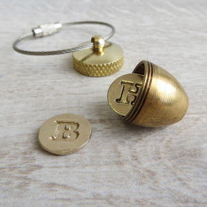 Secret Container Acorn Locket Key Ring - lockets