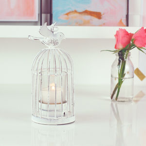 Pack Of Birdcage Lanterns Tea Light Holders