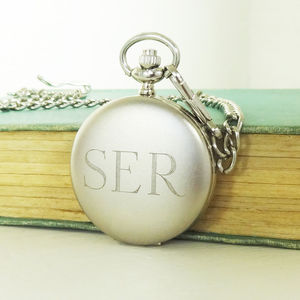 Engraved Pocket Watch With Personalised Initials - gifts under £50 for him