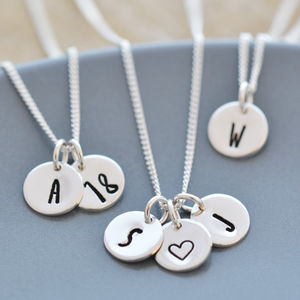 Sterling Silver Intial, Number Or Symbol Necklace - necklaces & pendants