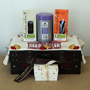 Coffee And Gourmet Chocolate Lover's Hamper - chocolates