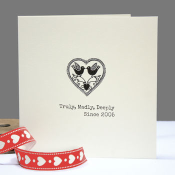 Personalised 'Truly,Madly,Deeply' Card