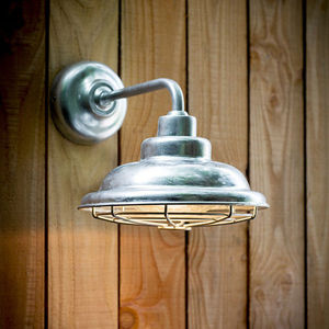 St Ives Mariner Galvanised Wall Light - wall lights