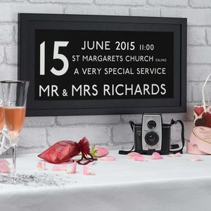 Personalised Wedding Date Bus Print - posters & prints