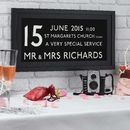 Personalised Wedding Date Bus Print