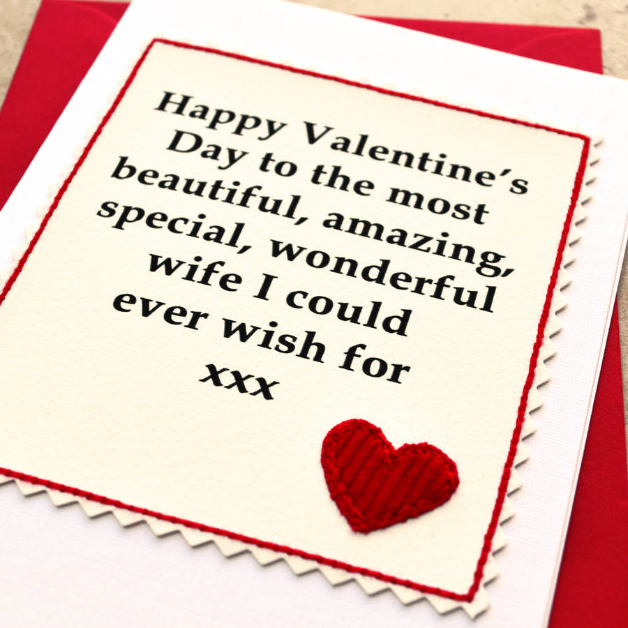 Valentine Day Cards For Wife – Valentines Card for Girlfriend