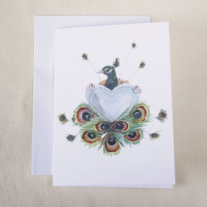 Peacock Illustrated Mothers Day Card