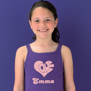 Girl's Personalised Heart Dress
