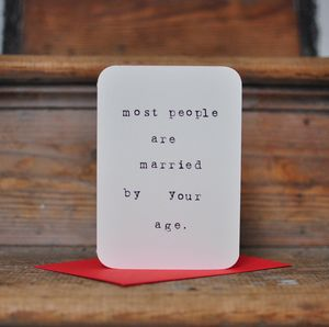 Marriage Hint Anti Valentines Card
