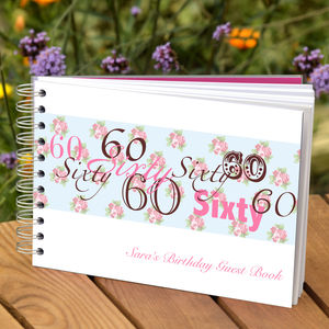 Personalised 60th Birthday Guest Book