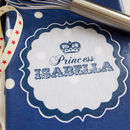 Princess Apron in Navy spotty