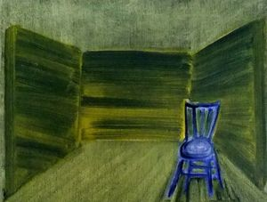 Green Room Original Oil Painting - contemporary art