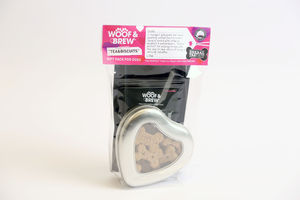 Valentines Doggy Tea And Biscuits With Heart Tin - gifts for him