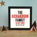Personalised Vintage Style Family Cinema Light Box