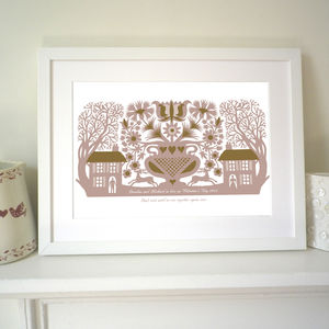 Personalised Valentine's 'Two Lovers' Print