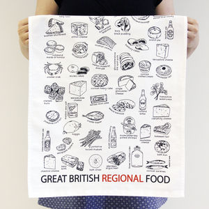 'Great British Regional Food' Tea Towel - kitchen accessories