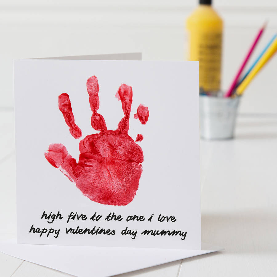 personalised hand print valentines day card by twentyseven – Valentine Card to Print