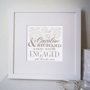 Personalised Engagement Print - posters & prints