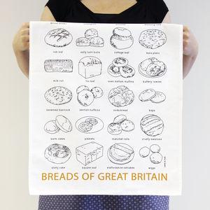 'Breads Of Great Britain' Tea Towel - kitchen accessories