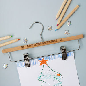 Personalised 'Masterpiece' Display Hanger - children's decorative accessories