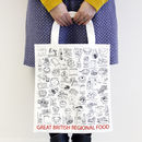 'Great British Regional Food' Canvas Bag