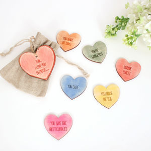I Love You Because… Bag Of Love Heart Tokens - tokens & keep sakes