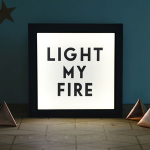 'Light My Fire' Illuminating Light Box - wall lights