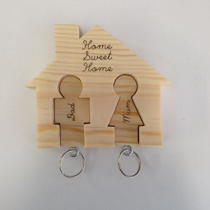 Key Ring Holder And Two Keyrings Can Be Personalised