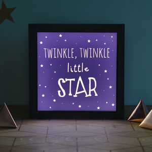 'Twinkle Little Star' Light Box