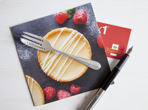 Personalised Fork Congratulations Cutlery Card - exam congratulations gifts
