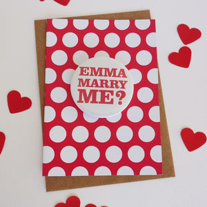 'Marry Me?' Wedding Proposal Card - proposal ideas