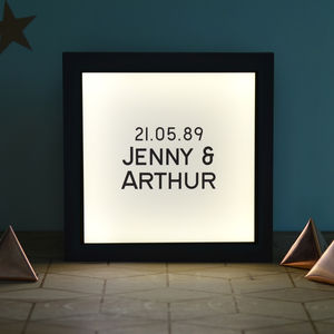 Personalised Stylish Vintage Light Box - wedding gifts & cards sale
