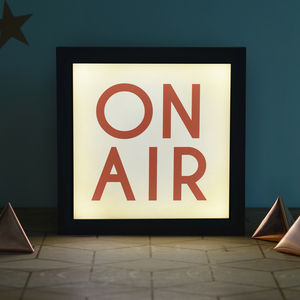 Vintage Style 'On Air' Light Box - lighting