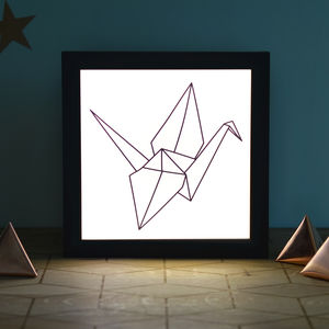 Origami Illuminating Light Box - wall lights