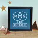 Personalised Wedding Initials Light Box