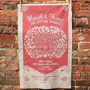 Apple Tree Wedding Tea Towel - save the date cards