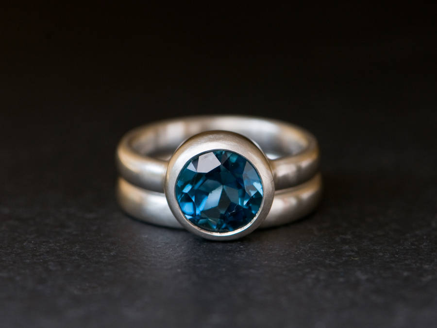 Topaz Wedding Ring Set By William White Notonthehighstreet Com