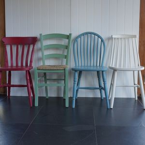 Two Mismatched Chairs Hand Painted In Any Colours - furniture