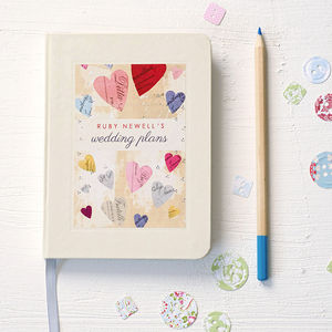 Personalised Wedding Engagement Notebook - writing