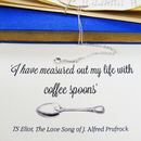 TS Eliot Coffee Spoon Necklace
