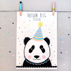 'Dream Big Little One' Panda Print