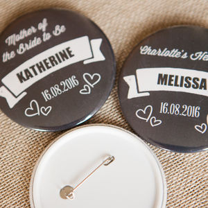 Personalised Chalkboard Big Badge Or Mirror - wedding favours