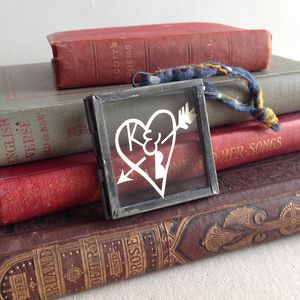 Personalised Paper Cut Heart - hanging decorations