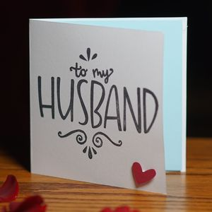 To My Husband Valentine's Card - valentine's cards