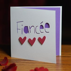 Fiancée Valentines Card - valentine's cards