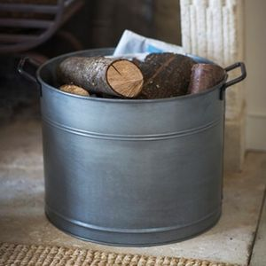 Galvanised Log Bucket - home accessories