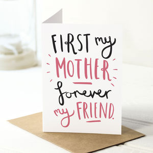 'First My' Mother's Day Card - mother's day cards & wrap